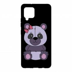 Чохол для Samsung A42 5G Purple Teddy Bear