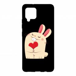 Чехол для Samsung A42 5G Rabbit with heart