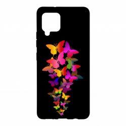 Чохол для Samsung A42 5G Rainbow butterflies