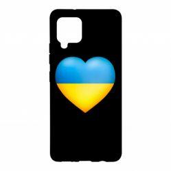Чохол для Samsung A42 5G Серце патріота
