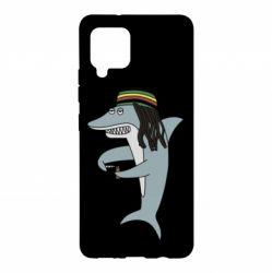 Чохол для Samsung A42 5G Shark Rastaman