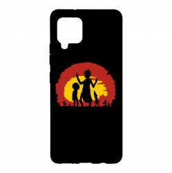Чохол для Samsung A42 5G Silhouette of Rick and Morty at Sunset