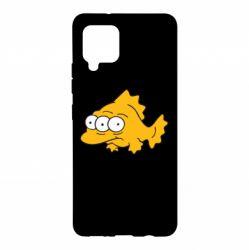 Чехол для Samsung A42 5G Simpsons three eyed fish