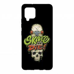 Чохол для Samsung A42 5G Skate or die skull