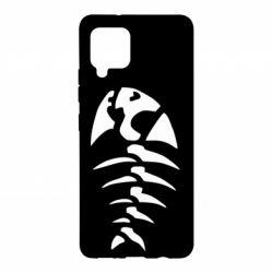 Чохол для Samsung A42 5G скелет рибки