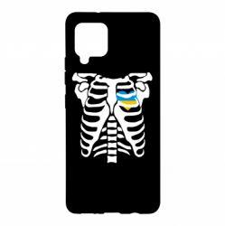 Чохол для Samsung A42 5G Скелет з серцем Україна