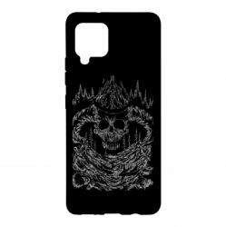 Чохол для Samsung A42 5G Skull with horns in the forest