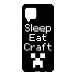 Чохол для Samsung A42 5G Sleep,eat, craft