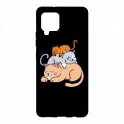 Чехол для Samsung A42 5G Sleeping cats