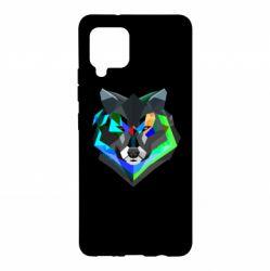 Чехол для Samsung A42 5G Сolorful wolf