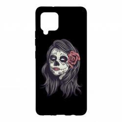 Чохол для Samsung A42 5G Sugar girl with a rose