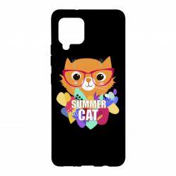 Чохол для Samsung A42 5G Summer cat