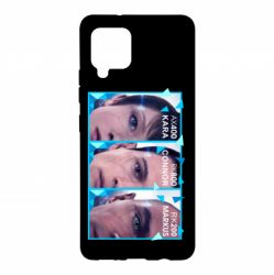 Чохол для Samsung A42 5G The faces of androids game Detroit: Become human