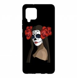 Чохол для Samsung A42 5G The girl in the image of the day of the dead