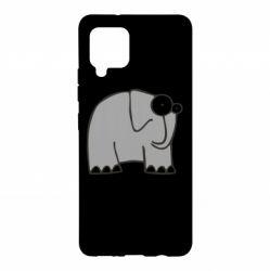 Чехол для Samsung A42 5G удивленный слон