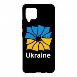 Чохол для Samsung A42 5G Ukraine квадратний прапор