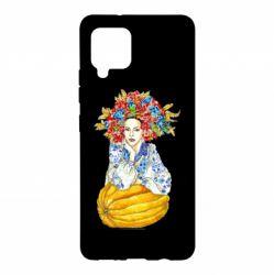 Чохол для Samsung A42 5G Українка в вінку і вишиванці