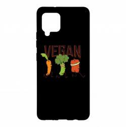 Чохол для Samsung A42 5G Веган овочі