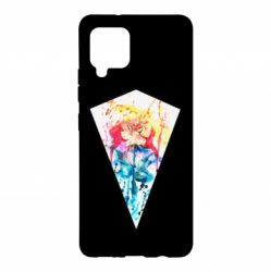 Чехол для Samsung A42 5G Watercolor flower in a geometric frame