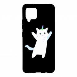 Чохол для Samsung A42 5G White cheerful cat
