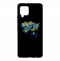 Чохол для Samsung A42 5G Я люблю Україну і дерево
