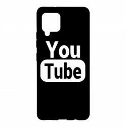 Чохол для Samsung A42 5G Youtube vertical logo