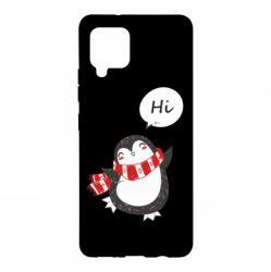 Чохол для Samsung A42 5G Зимовий пингвинчик
