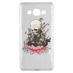 Чехол для Samsung A5 2015 A skeleton sitting on a lotus