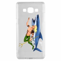 Чехол для Samsung A5 2015 Aquaman with a shark