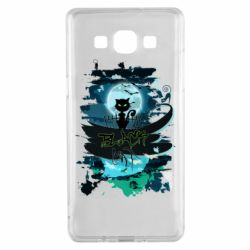 Чехол для Samsung A5 2015 Black cat art