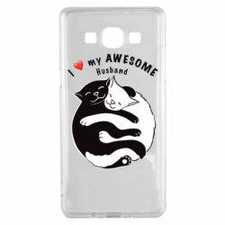 Чехол для Samsung A5 2015 Cats and love