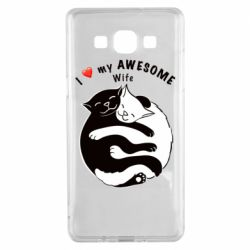 Чехол для Samsung A5 2015 Cats with a smile