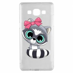 Чехол для Samsung A5 2015 Cute raccoon
