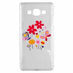 Чехол для Samsung A5 2015 Flowers and Butterflies
