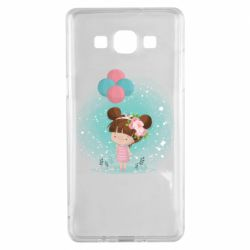Чехол для Samsung A5 2015 Girl with balloons