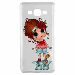 Чехол для Samsung A5 2015 Girl with big eyes