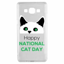 Чехол для Samsung A5 2015 Happy National Cat Day