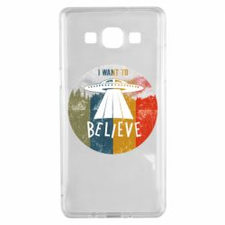 Чехол для Samsung A5 2015 I want to believe text