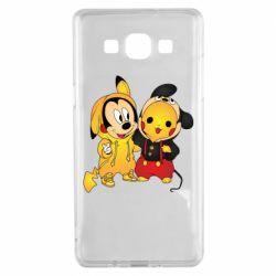 Чехол для Samsung A5 2015 Mickey and Pikachu