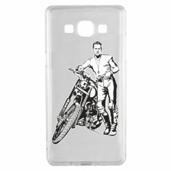 Чехол для Samsung A5 2015 Mickey Rourke and the motorcycle