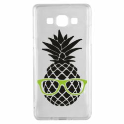 Чехол для Samsung A5 2015 Pineapple with glasses