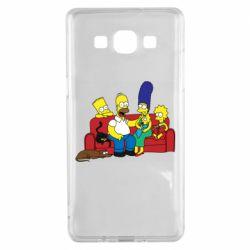 Чехол для Samsung A5 2015 Simpsons At Home