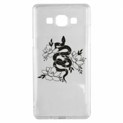 Чохол для Samsung A5 2015 Snake with flowers
