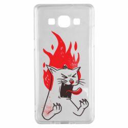 Чохол для Samsung A5 2015 The cat is mad