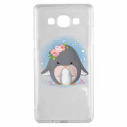 Чехол для Samsung A5 2015 Two cute penguins