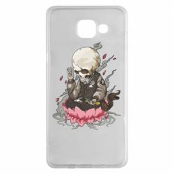 Чехол для Samsung A5 2016 A skeleton sitting on a lotus