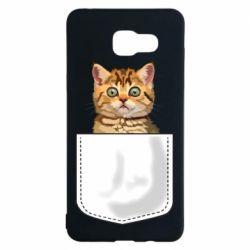 Чехол для Samsung A5 2016 Cat in your pocket
