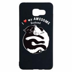 Чехол для Samsung A5 2016 Cats and love