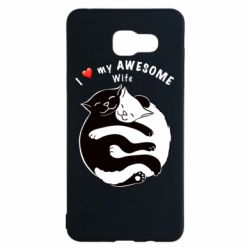 Чехол для Samsung A5 2016 Cats with a smile