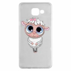Чехол для Samsung A5 2016 Cute lamb with big eyes